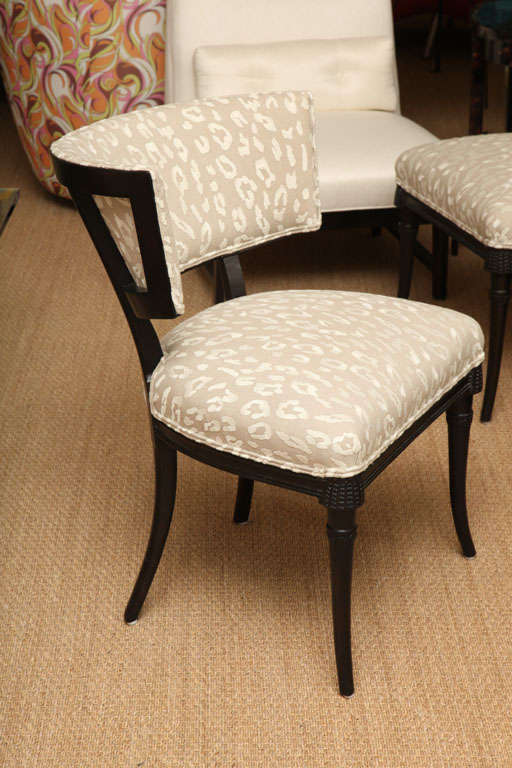 Sculptural Grosfeld House Side or Slipper Chairs Mid-Century Modern In Good Condition For Sale In North Miami, FL