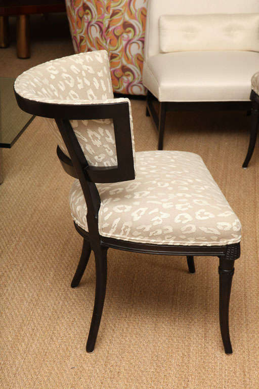 Mid-20th Century Sculptural Grosfeld House Side or Slipper Chairs Mid-Century Modern For Sale