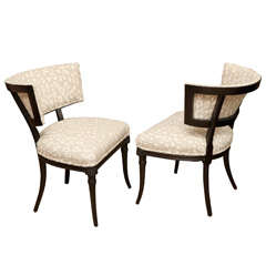 Pair of Mid-Century Sculptural Grosfeld House Side Chairs
