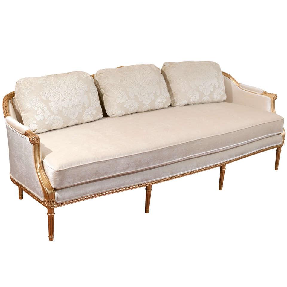 Louis Xvi Style Gilded Sofa