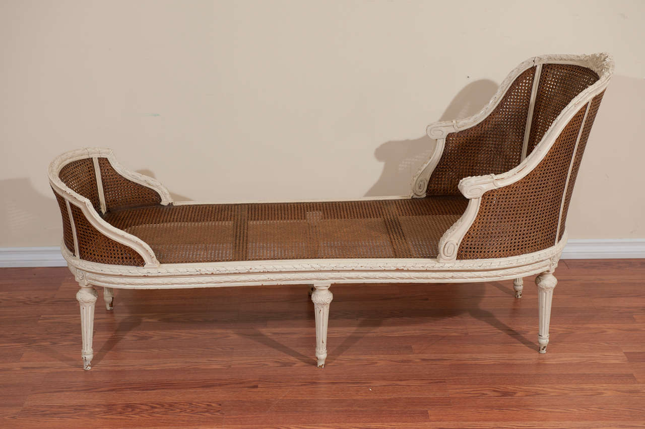 19th century louis xvi style chaise longue for sale at 1stdibs - Chaise louis xvi pas cher ...