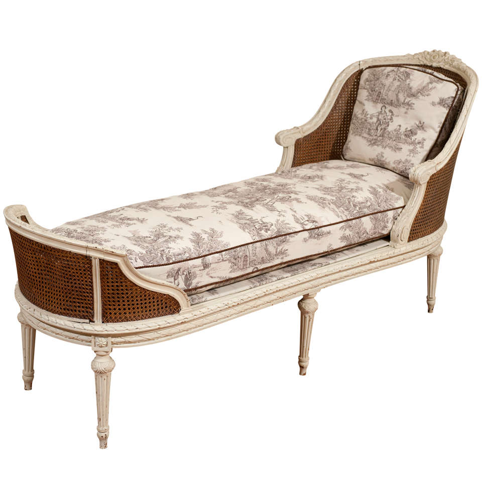19th century louis xvi style chaise longue for sale at 1stdibs. Black Bedroom Furniture Sets. Home Design Ideas
