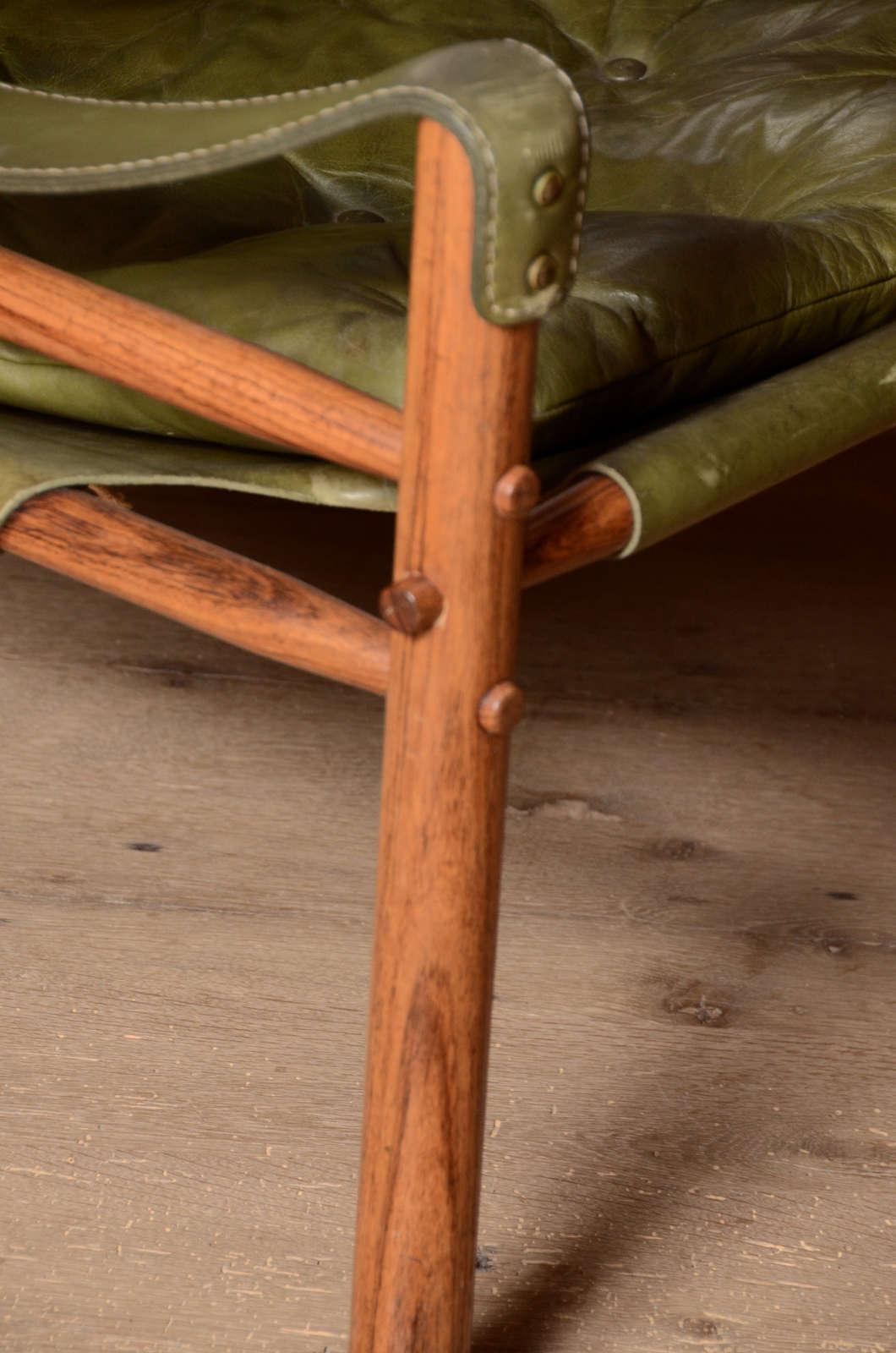 Danish Pair of Mid-Century Arne Norell Safari chairs