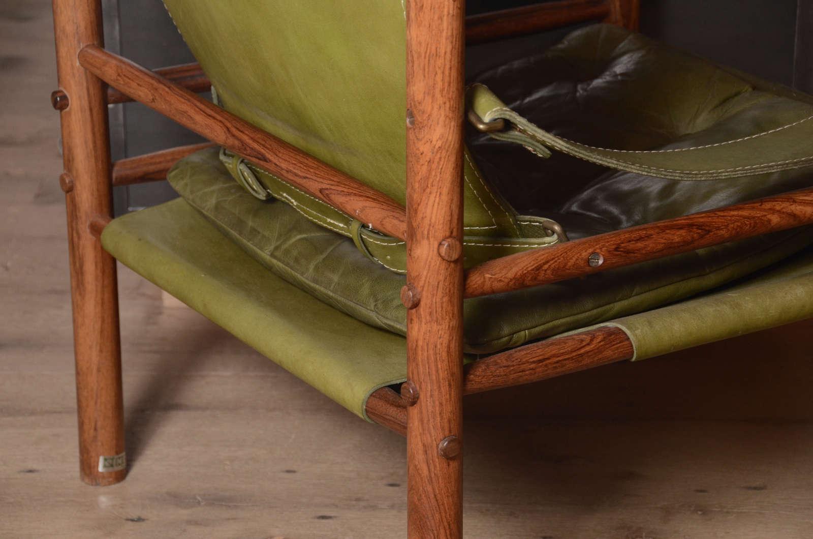 Pair of Mid-Century Arne Norell Safari chairs 2