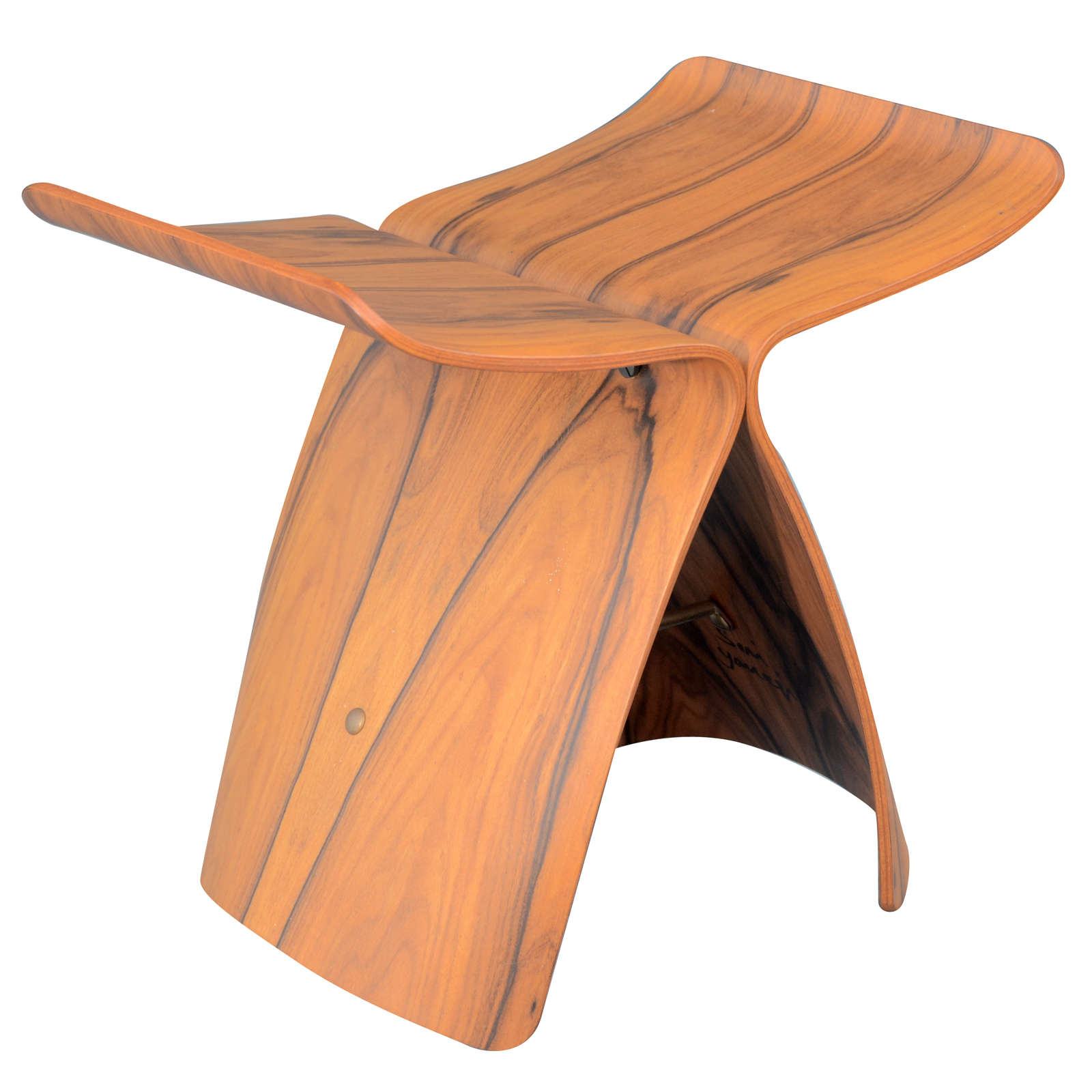 Butterfly chair sori yanagi - Vintage Sori Yanagi Rosewood Butterfly Stool 1