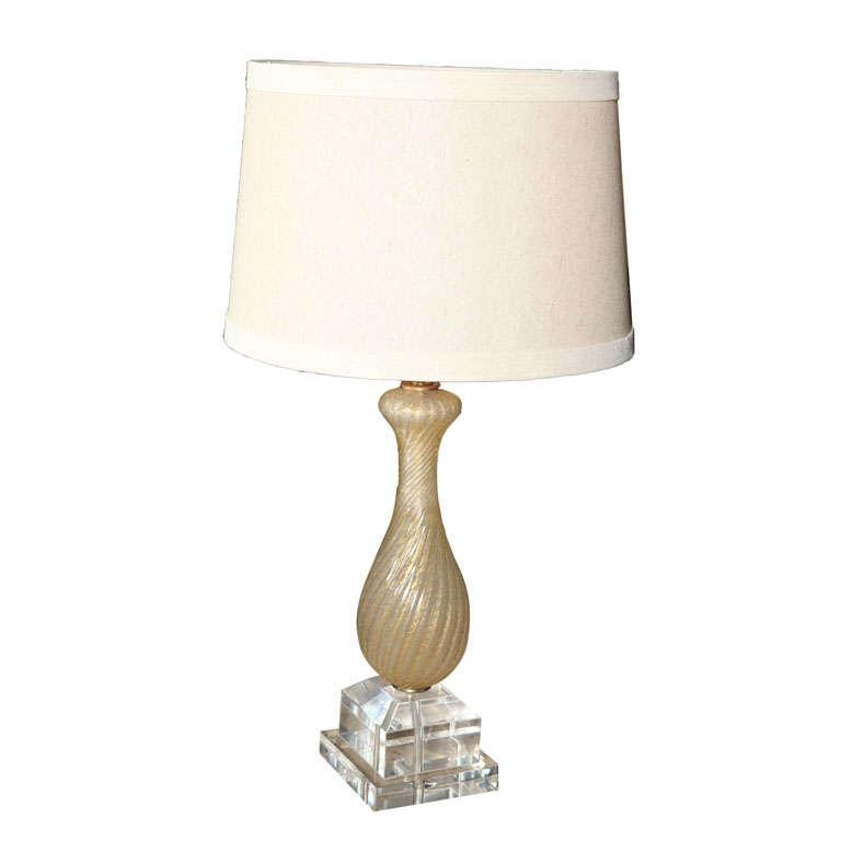 unique murano glass table lamp