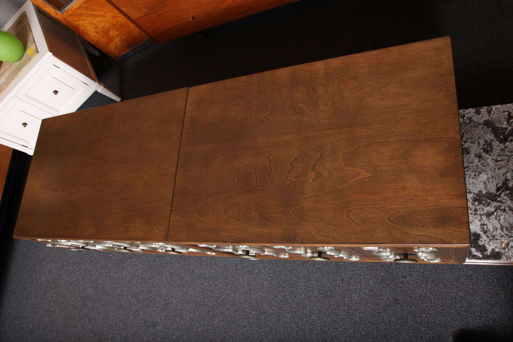 Fine Long James Mont Style Credenza Cabinet For Sale 1