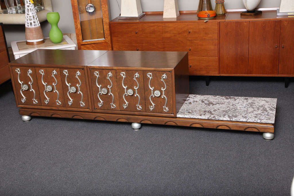 Fine Long James Mont Style Credenza Cabinet For Sale 3