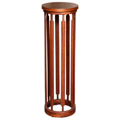 Unique Crafted Tall Teak Pedestal Stand