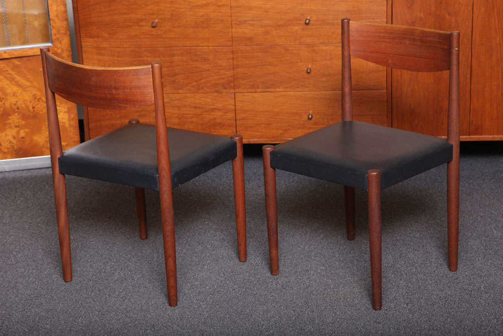 Four Poul Volther Danish Teak Dining Chairs Frem Rojle In Good Condition For Sale In Miami, FL