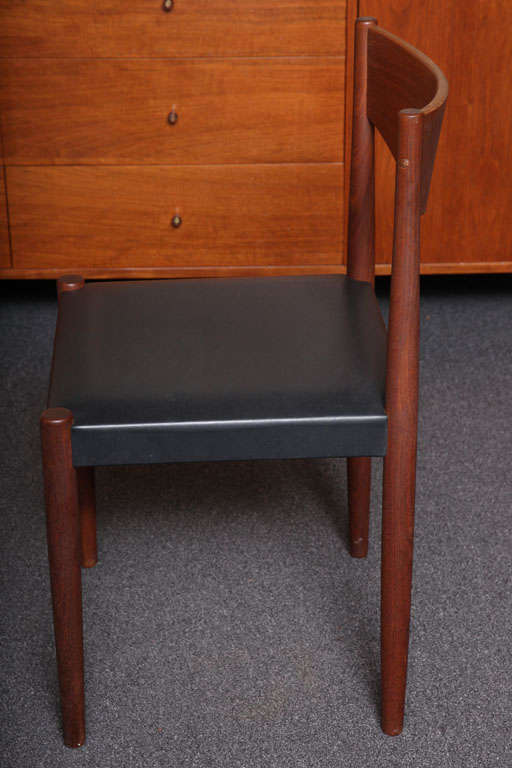 Four Poul Volther Danish Teak Dining Chairs Frem Rojle For Sale 1