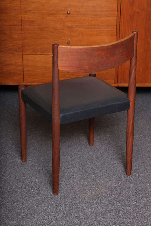 Four Poul Volther Danish Teak Dining Chairs Frem Rojle For Sale 2