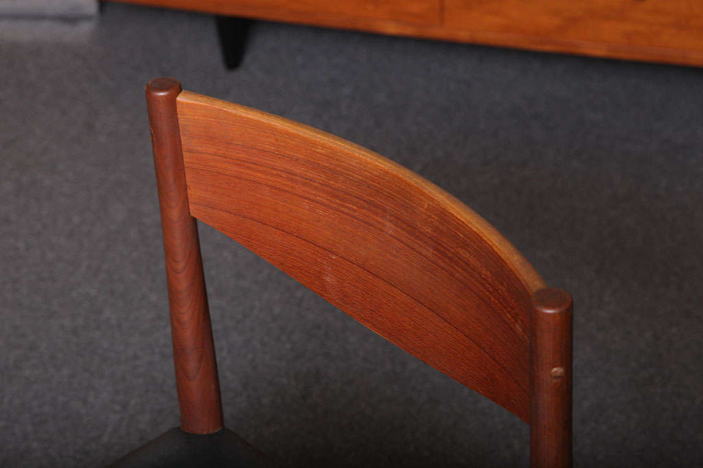Four Poul Volther Danish Teak Dining Chairs Frem Rojle For Sale 3