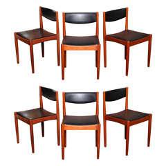SIX Smart Danish Teak Dining Chairs Frem Rojle