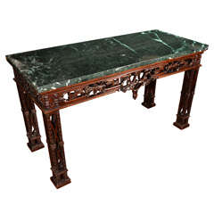 19th C Chinese Chippendale Console