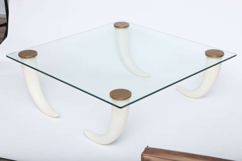 20th Century Henredon Elephant Tusk Coffee Table