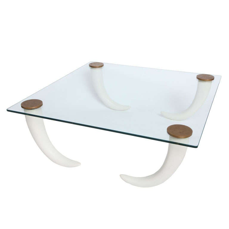 Henredon elephant tusk coffee table at 1stdibs Elephant coffee table