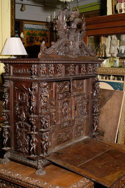 Fine And Large Spanish Carved Oak Vargueno At 1stdibs