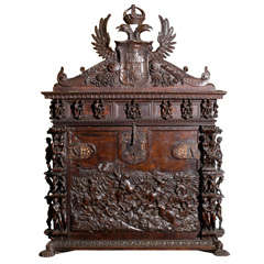 Fine & Large Spanish Carved Oak Vargueno
