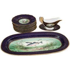 Vintage Spode Fish Set