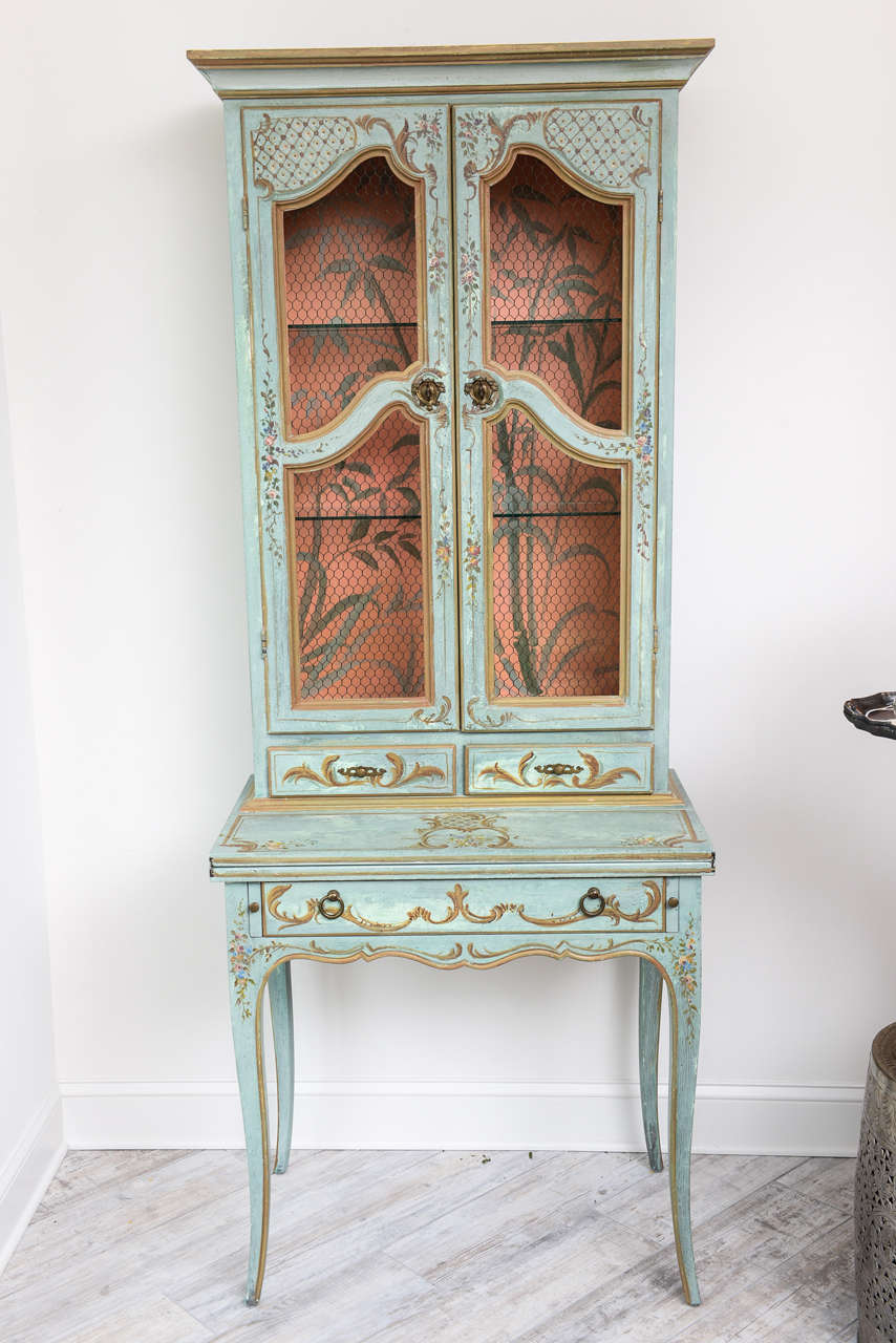 Italian hand painted secretaire at 1stdibs for Italian painted furniture