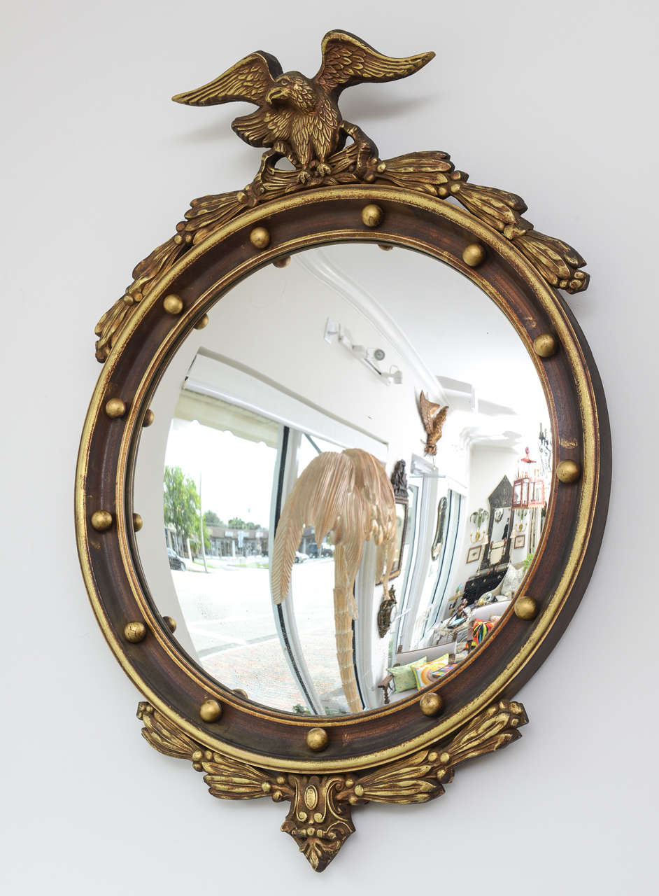 Vintage convex eagle mirror at 1stdibs for Convex mirror