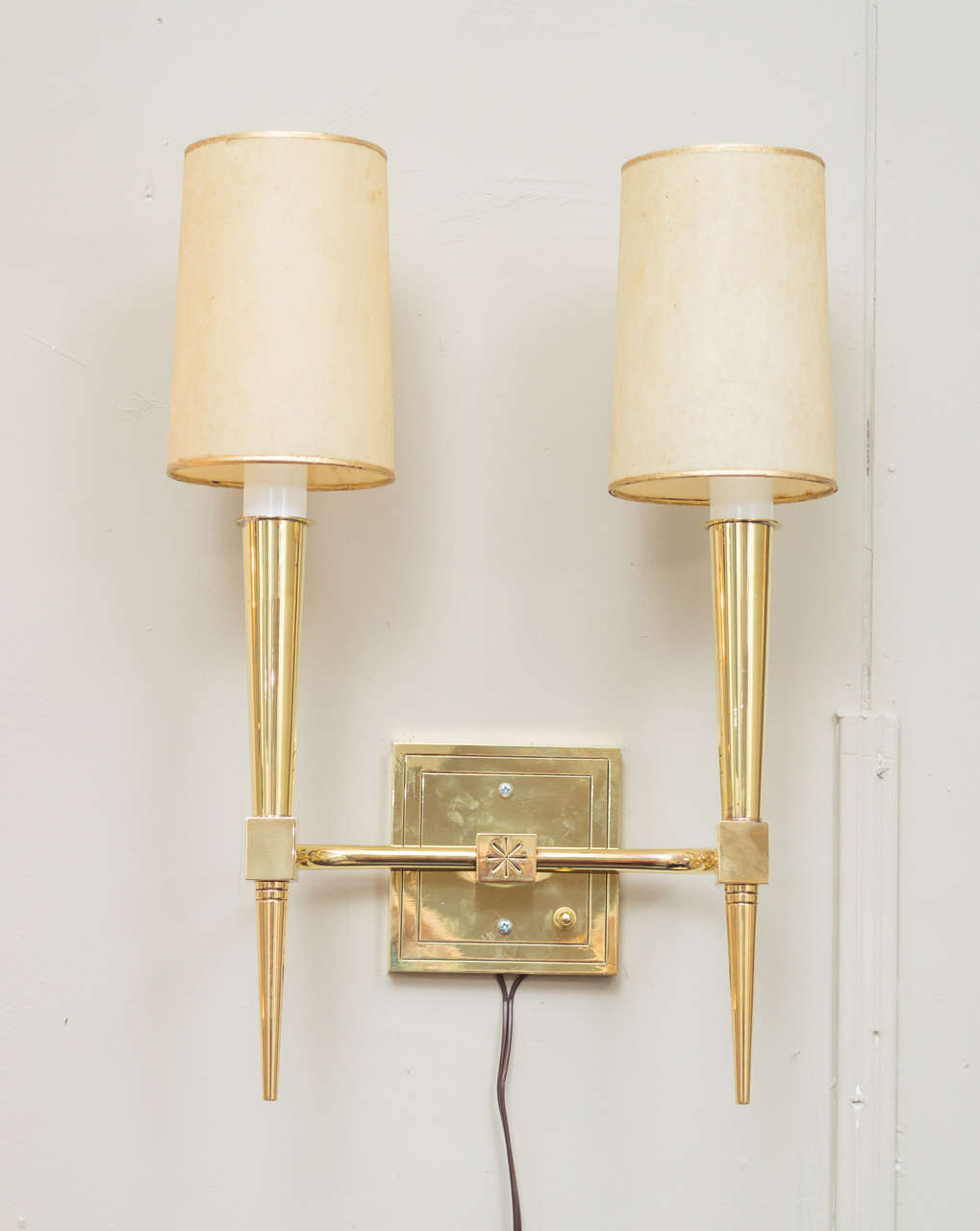 American Pair of Tommi Parzinger Wall Sconces For Sale