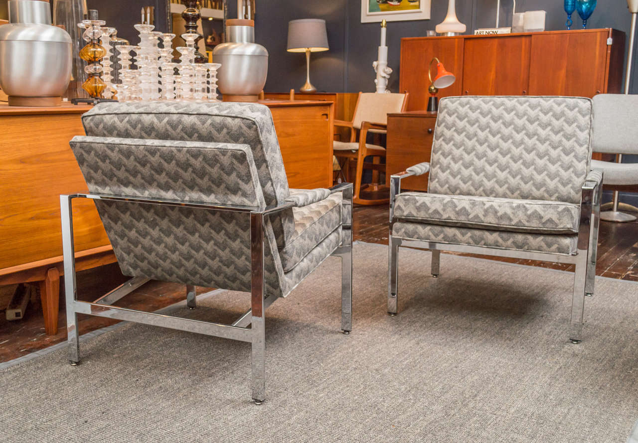 Mid-20th Century Milo Baughman Lounge Chairs For Sale