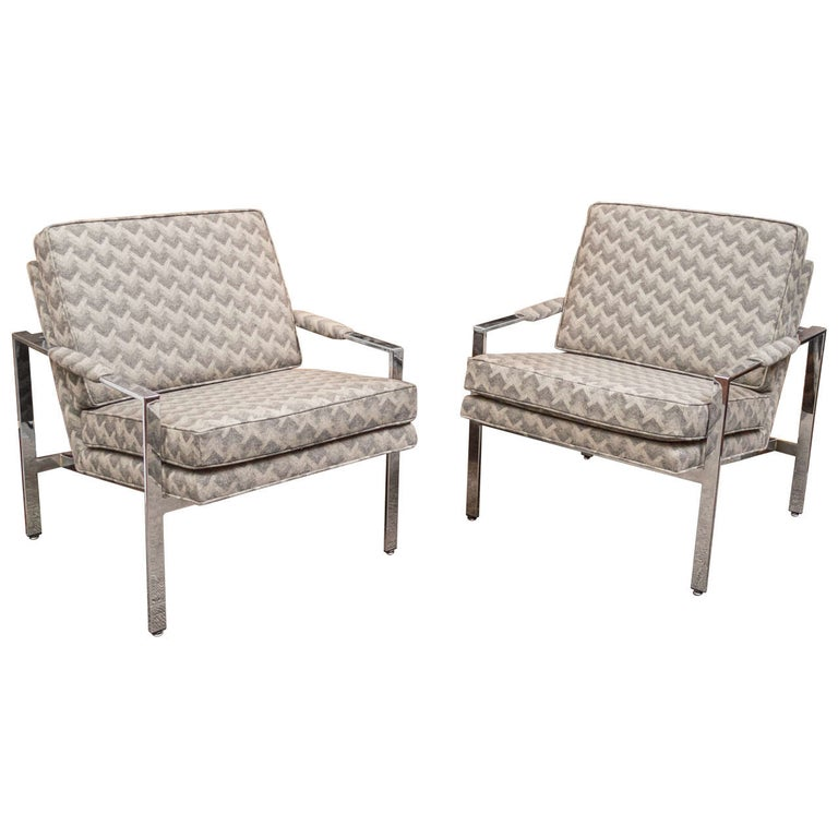 Milo Baughman Lounge Chairs For Sale
