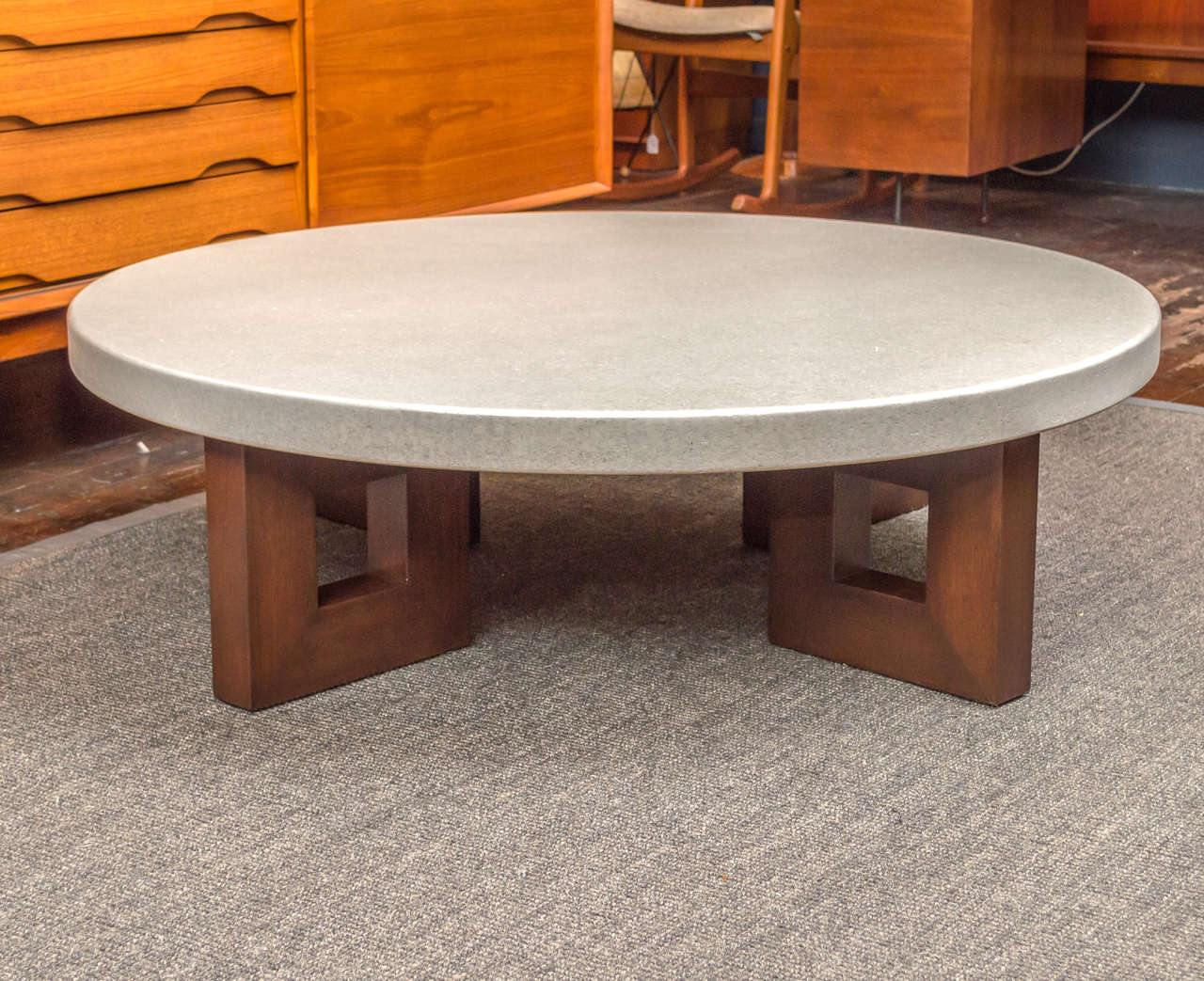 Paul Frankl Design Coffee Table For Johnson Furniture Co Comprised Of A Cork Laminate On