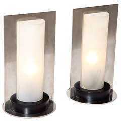 Boris Jean Lacroix Pair of French Art Deco Table Lamps