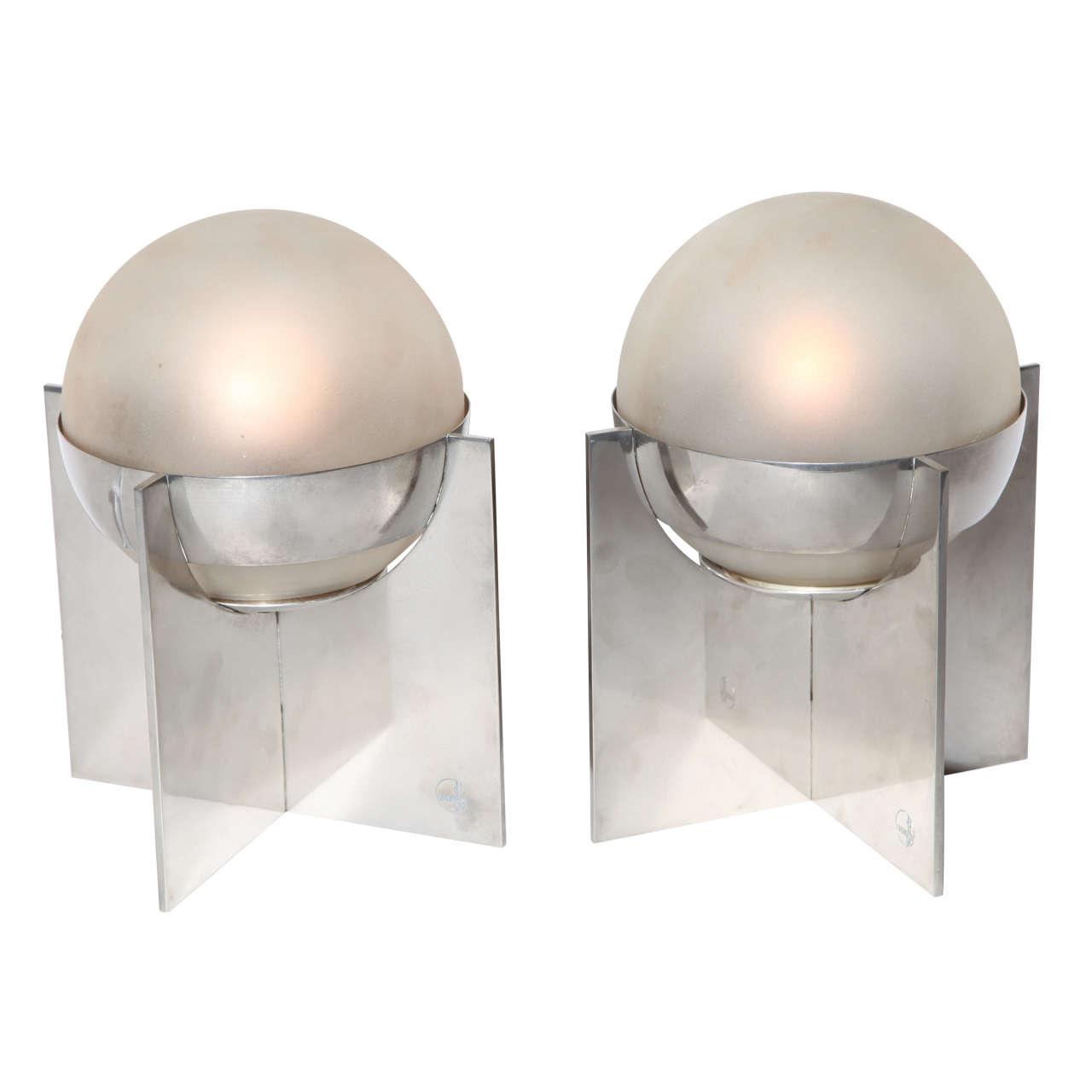 Boris Jean Lacroix Pair of Art Deco Table Lamps