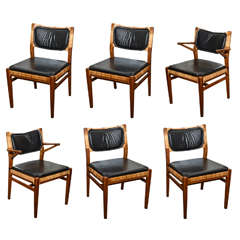 Set of Six Mid-Century Danish Dining Chairs by Erik Worts