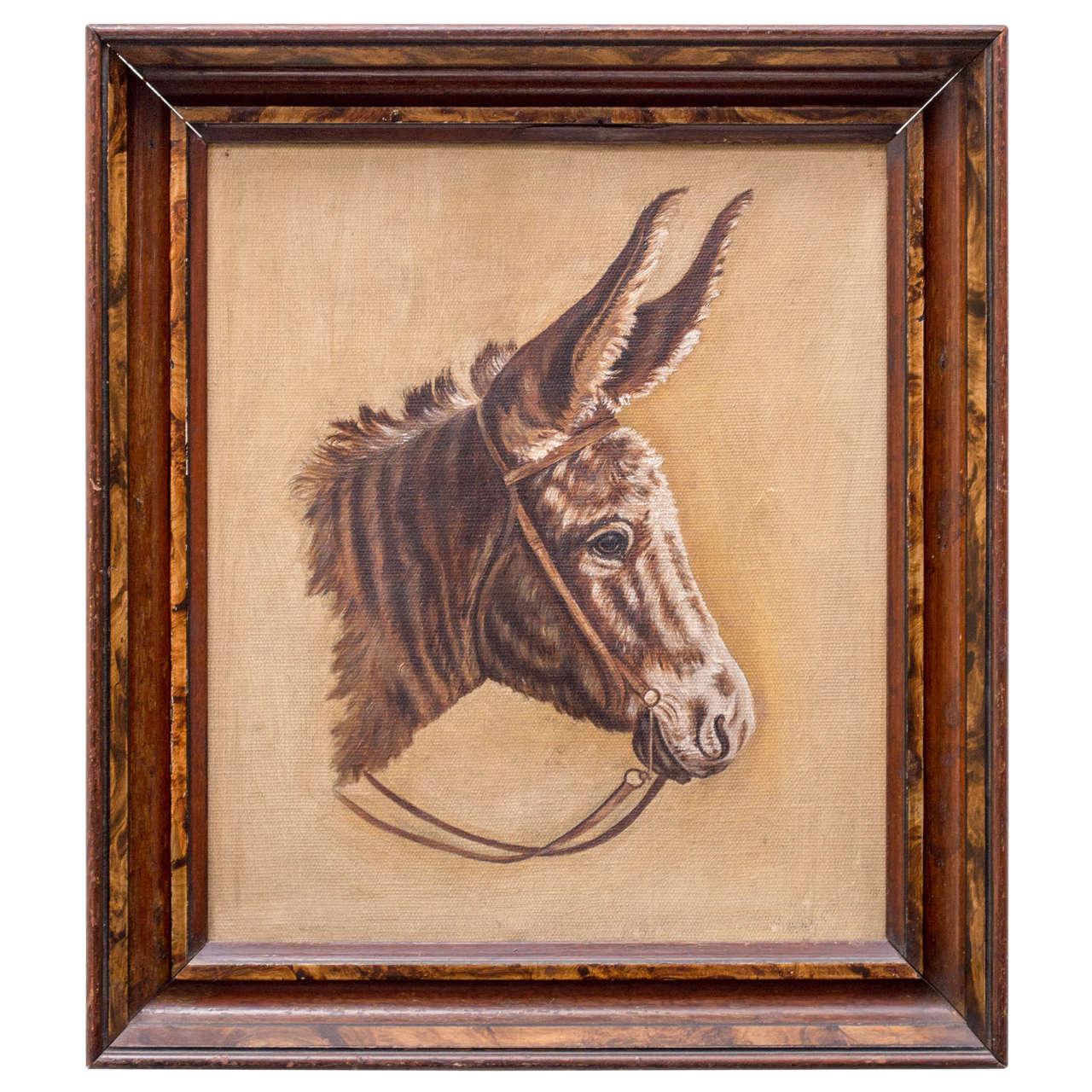 Late 19th Century Donkey Portrait