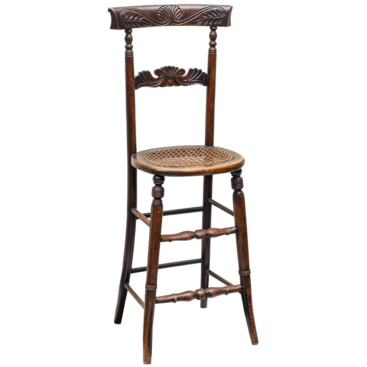 English William IV Mahogany Posture Discipline Chair Circa - Posture chair
