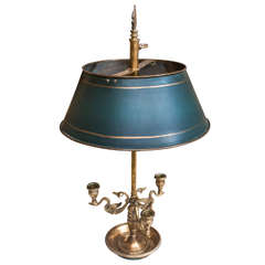 2-Light Brass Bouillotte (Gaming) Lamp, France, Circa:1930