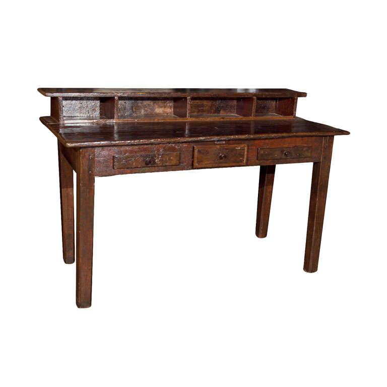 writing desk with riser at 1stdibs. Black Bedroom Furniture Sets. Home Design Ideas