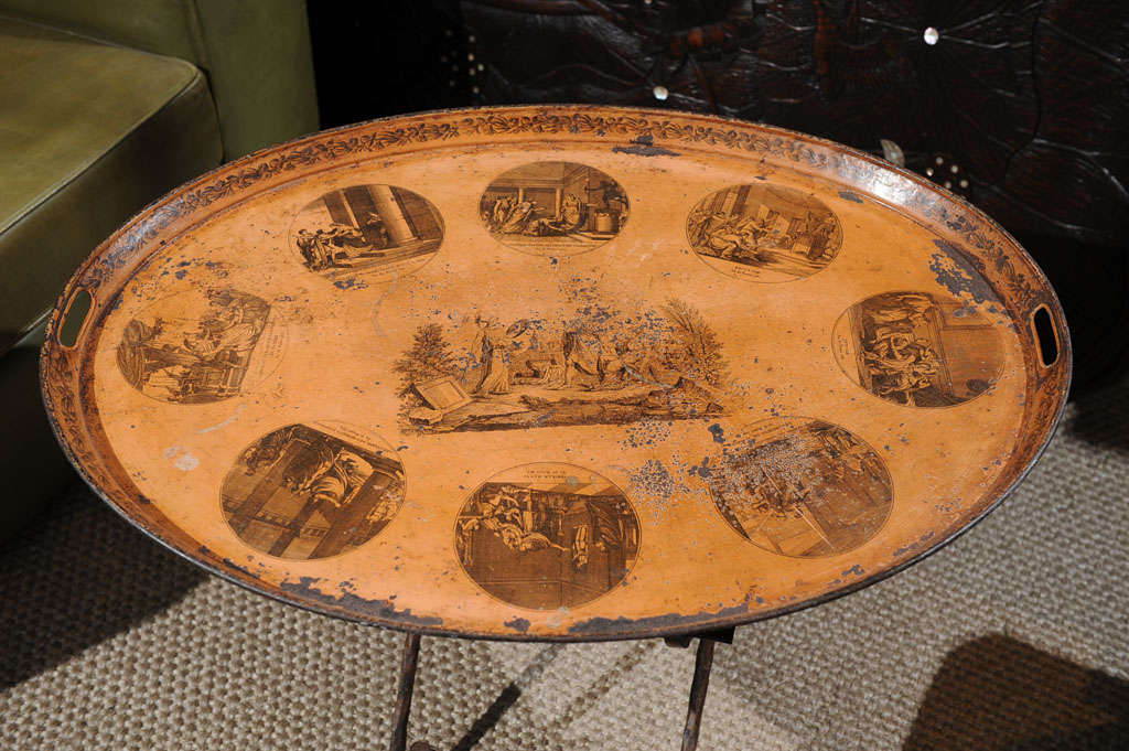 19th Century French Tole Tray