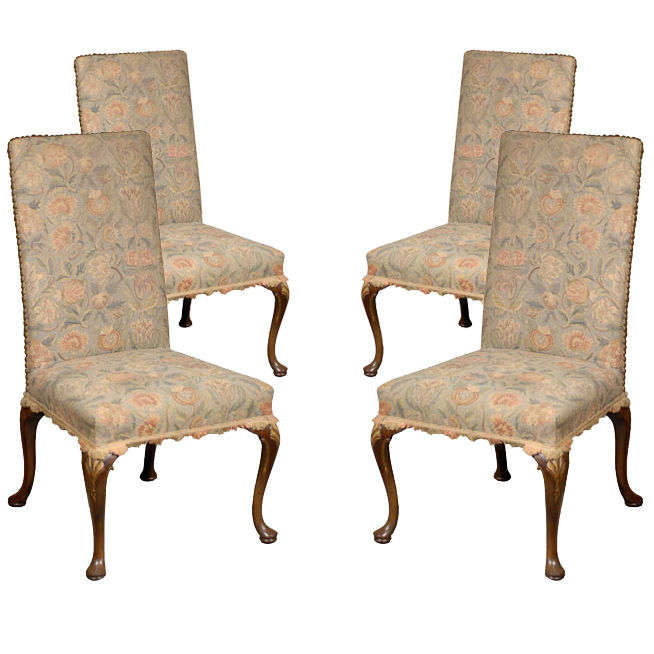 Late 19th Early 20th C Georgian Style Side Chairs At 1stdibs