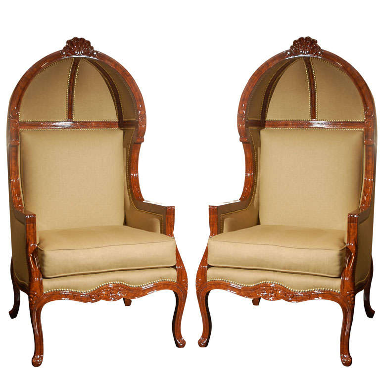 A pair of oversized canopy armchairs for sale at 1stdibs for Oversized armchairs for sale