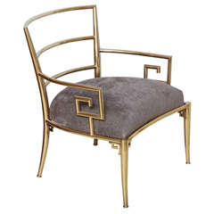 Solid Brass Greek Key Chair