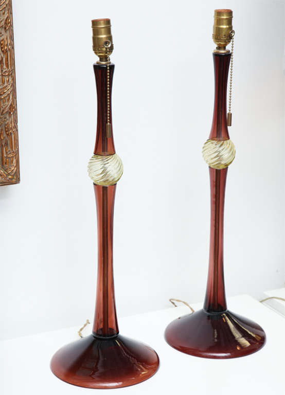 Pair Of Donghia Lamps Designed By John Hutton image 2