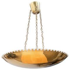 Brass Bowl Chandelier