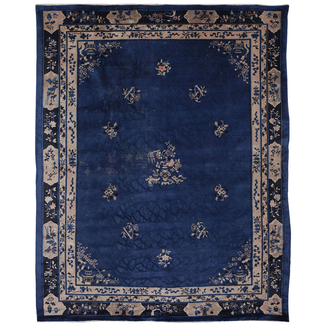 Fine Indigo Blue Peking Rug