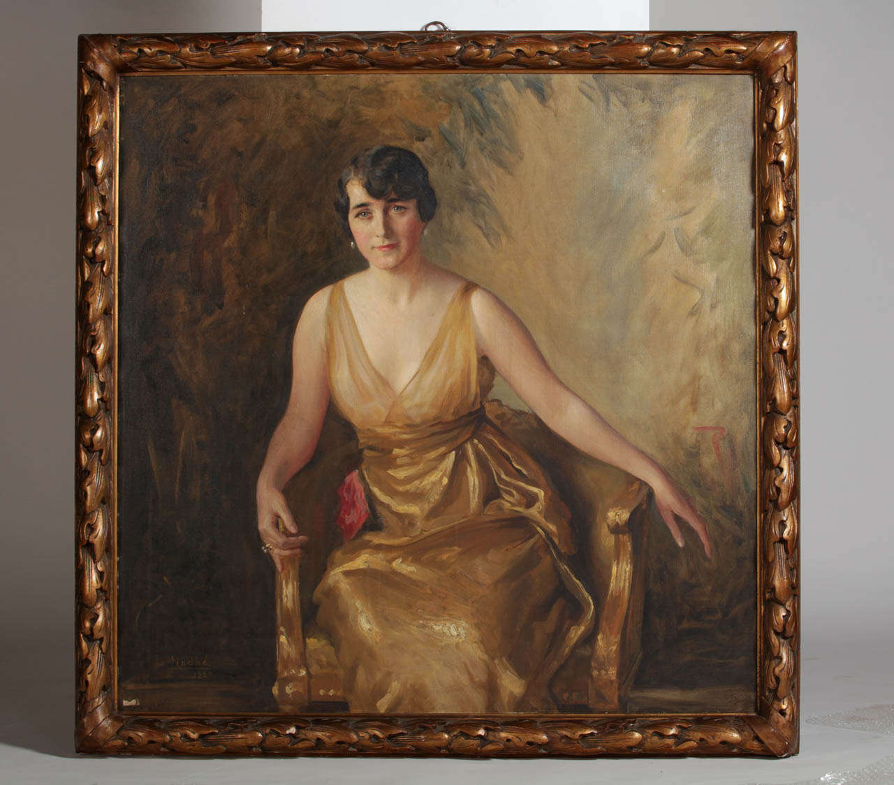 Portrait of a Young Lady Oil on Canvas by Ivan Lindhè 1920 2