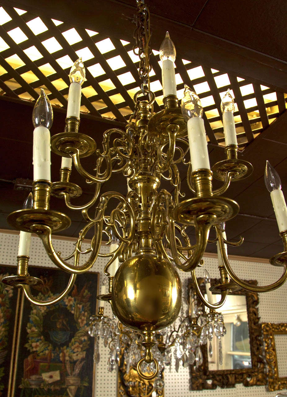Two Tier 12 Light Dutch Chandelier For Sale 2