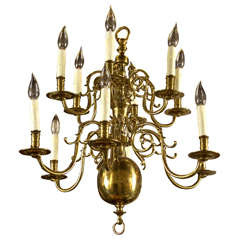 Two Tier 12 Light Dutch Chandelier