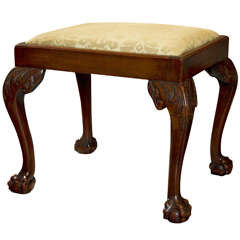 Mahogany Bench on Carved Legs