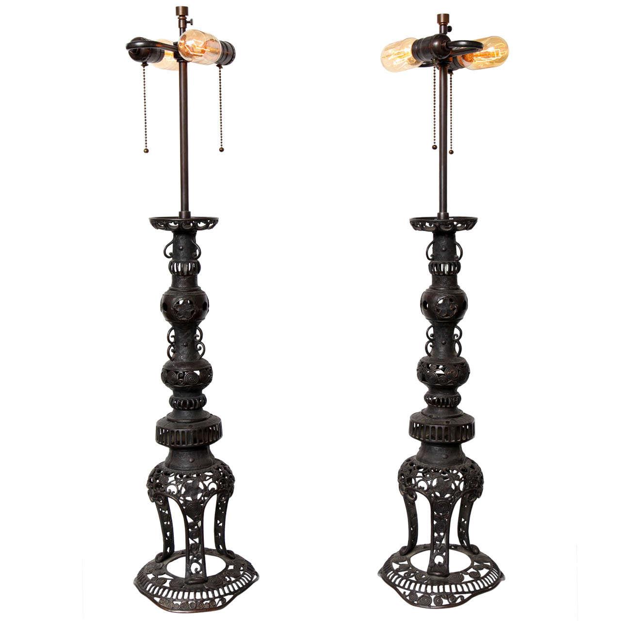 bronze filigree lamps at 1stdibs