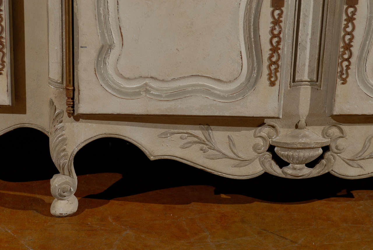 19th Century French Provincial Paint Decorated Faux Marble Top Enfidale For Sale 7
